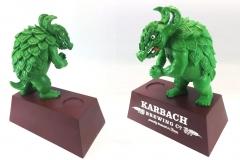 Karback Hopadillo Display Enhancer<br/>Molded polyresing hopadillo and a logo'd wood pedestal base